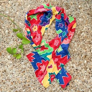 Vintage Retro Colorful Silk Hair Tie Scarf Wrap
